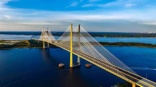 航拍大连棒棰岛星海湾跨海大桥
